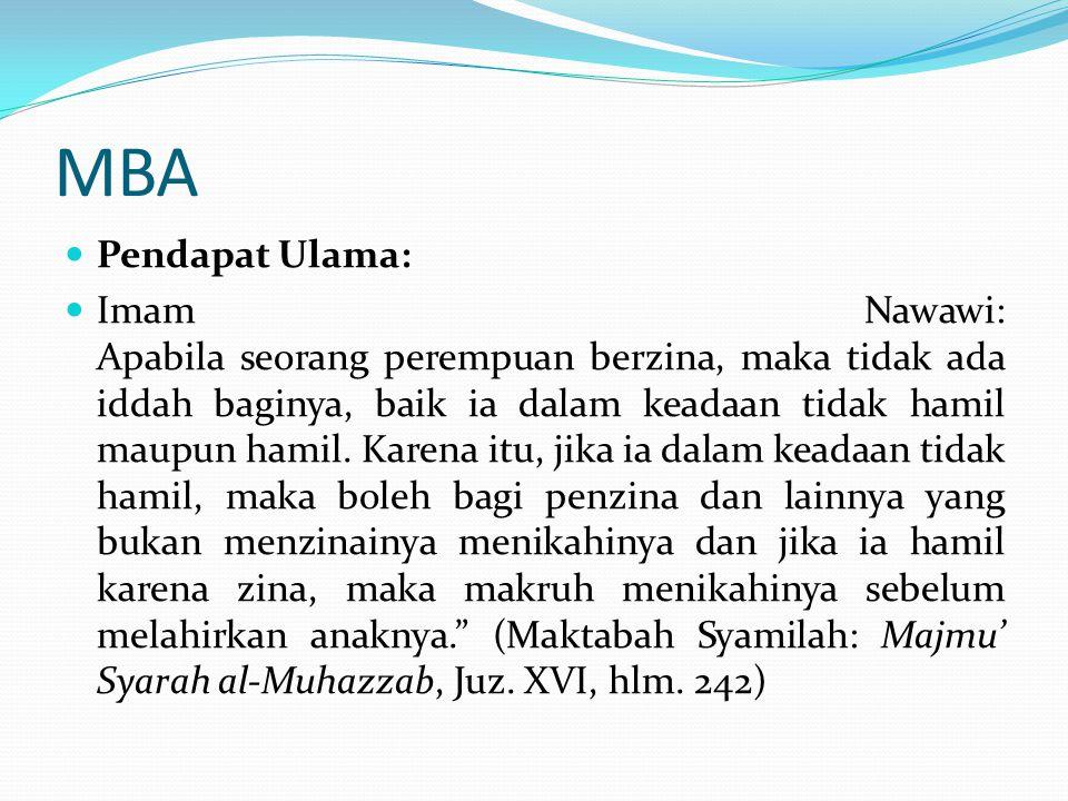 MBA Pendapat Ulama: