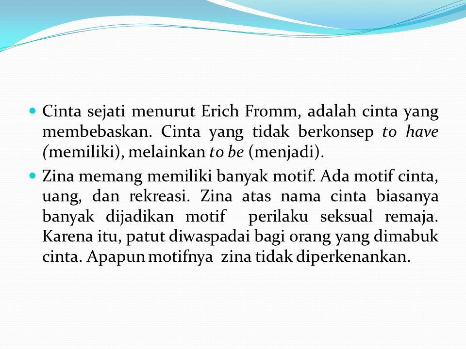 Cinta sejati menurut Erich Fromm, adalah cinta yang membebaskan