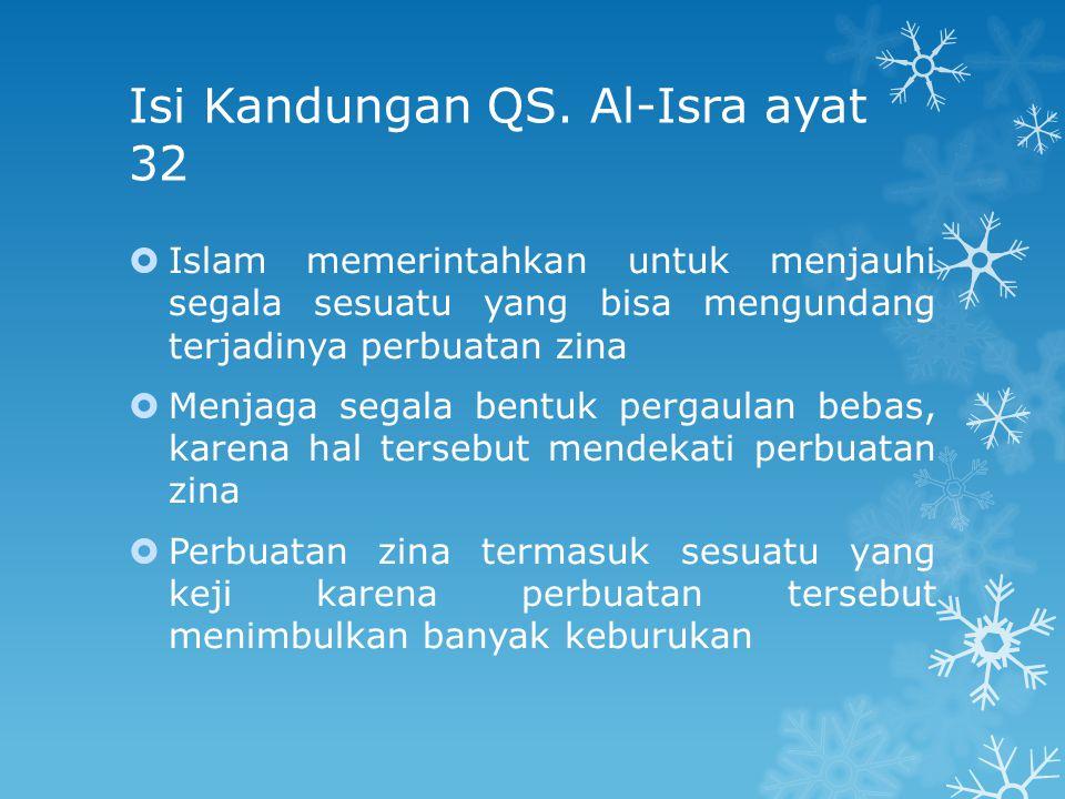 Isi Kandungan QS. Al-Isra ayat 32