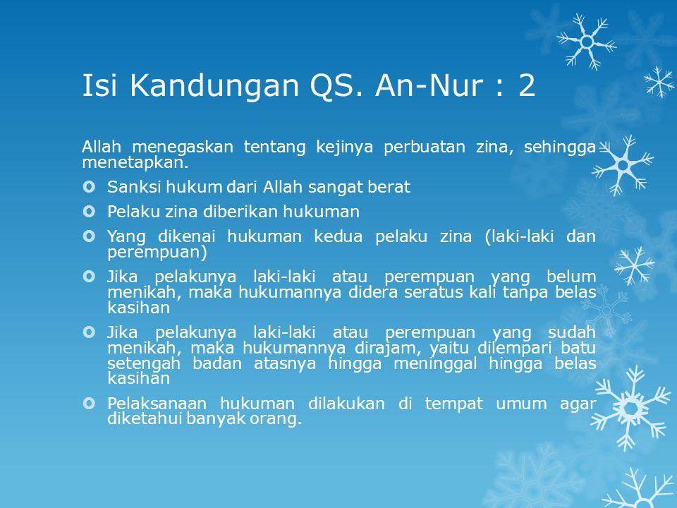 Isi Kandungan QS. An-Nur : 2