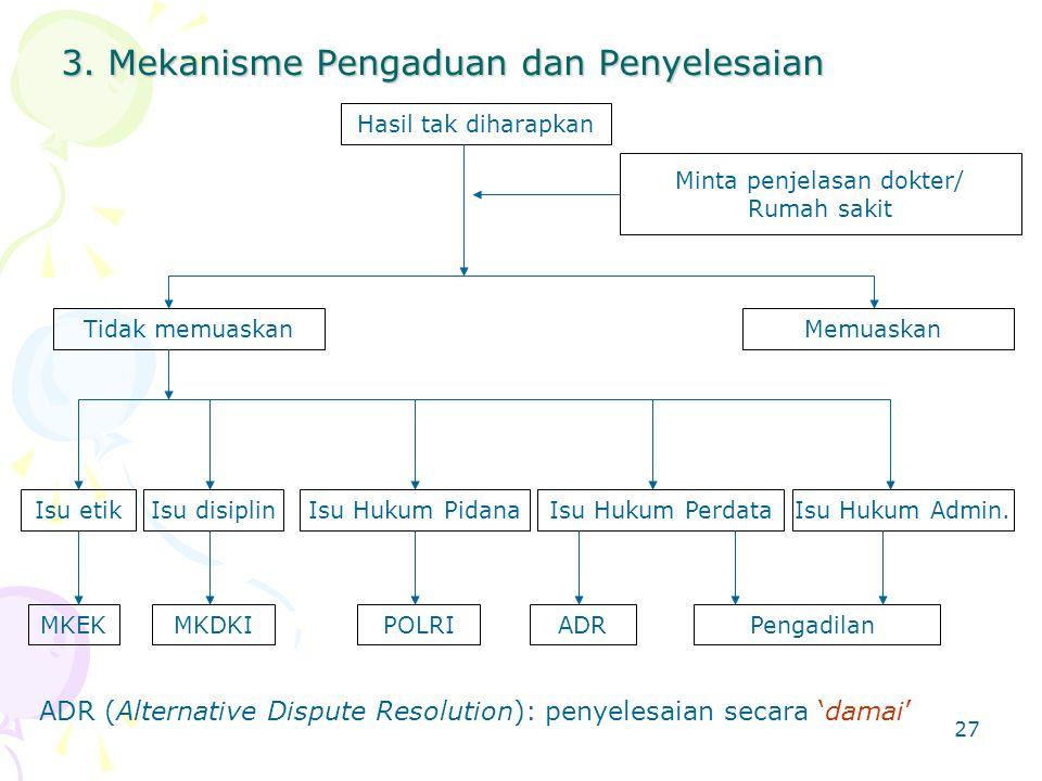 3. Mekanisme Pengaduan dan Penyelesaian