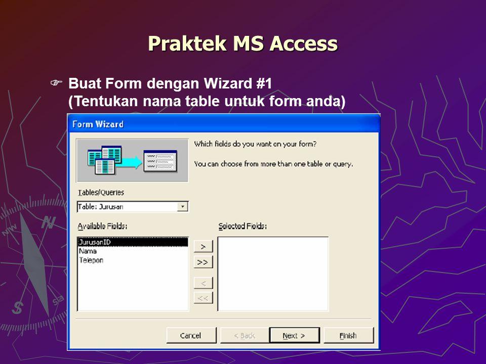 Praktek MS Access Buat Form dengan Wizard #1