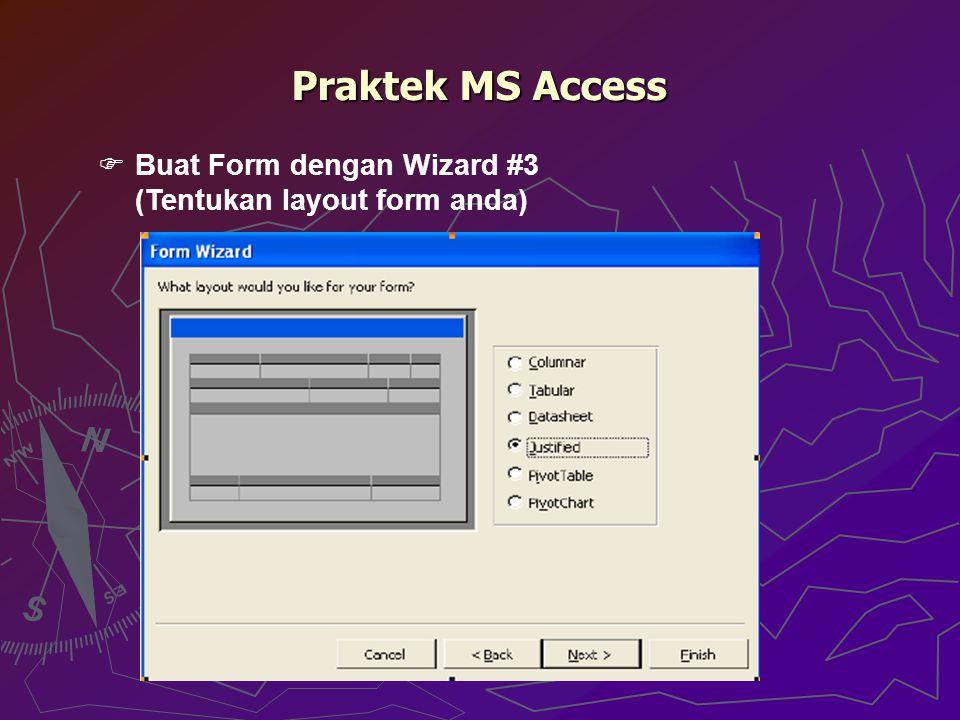 Praktek MS Access Buat Form dengan Wizard #3