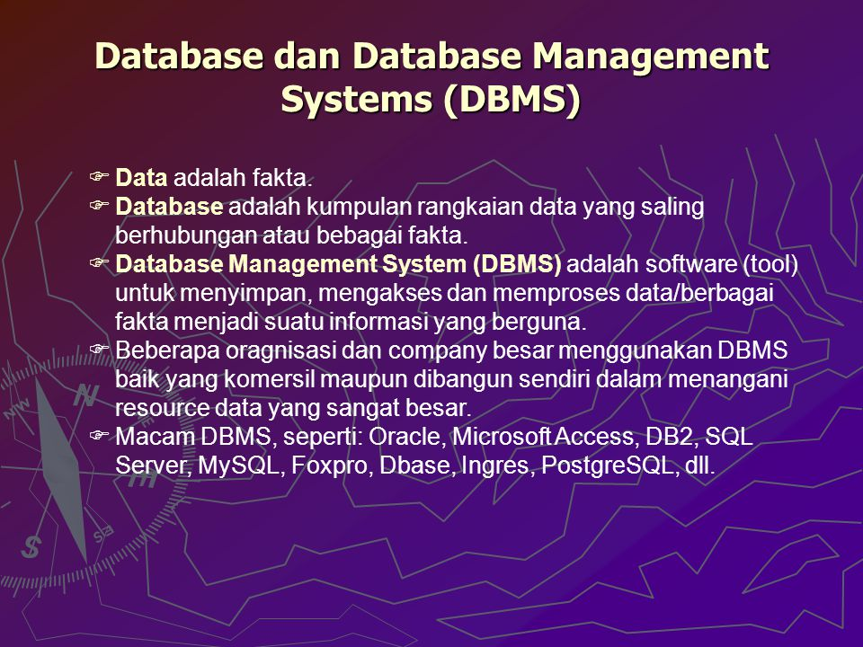 Database dan Database Management Systems (DBMS)