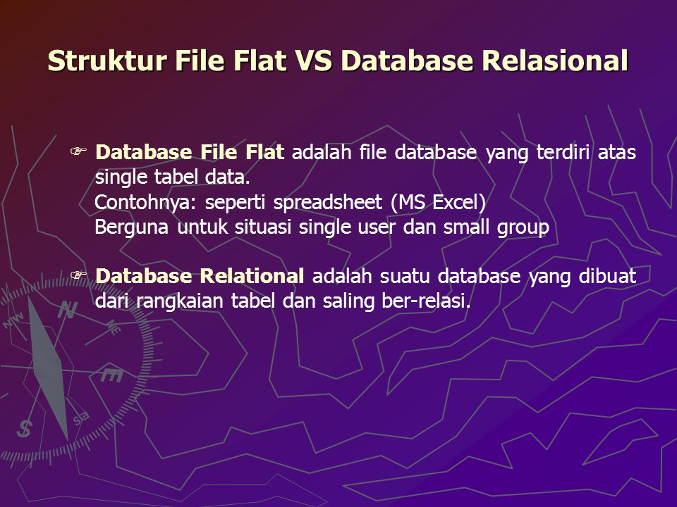 Struktur File Flat VS Database Relasional