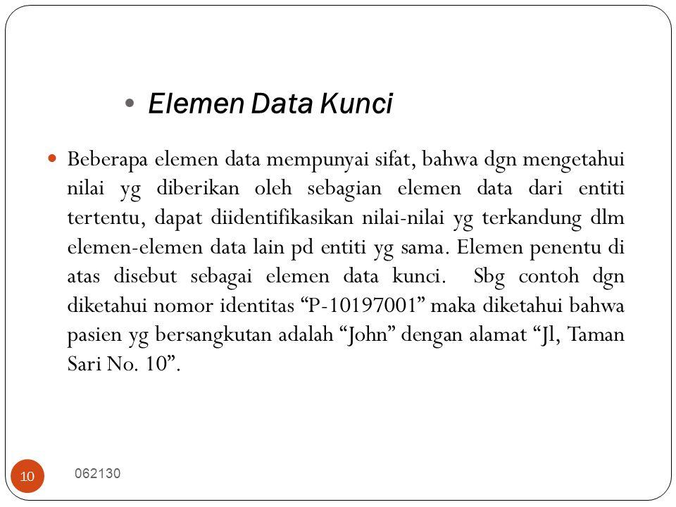 Elemen Data Kunci