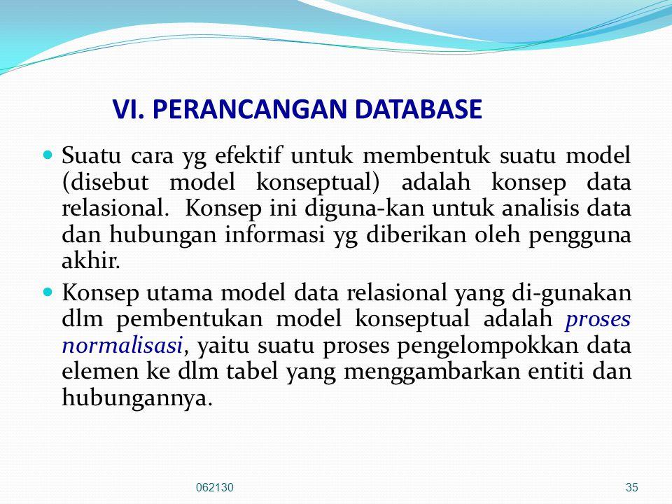VI. PERANCANGAN DATABASE