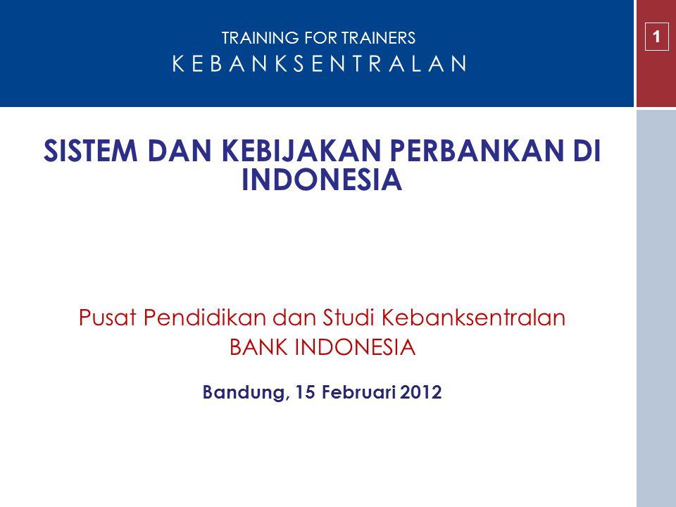 SISTEM DAN KEBIJAKAN PERBANKAN DI INDONESIA