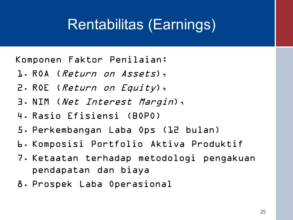 Rentabilitas (Earnings)