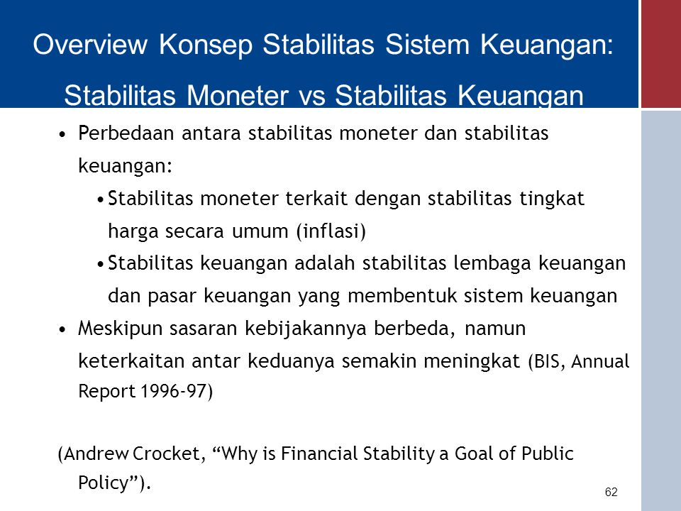Overview Konsep Stabilitas Sistem Keuangan: