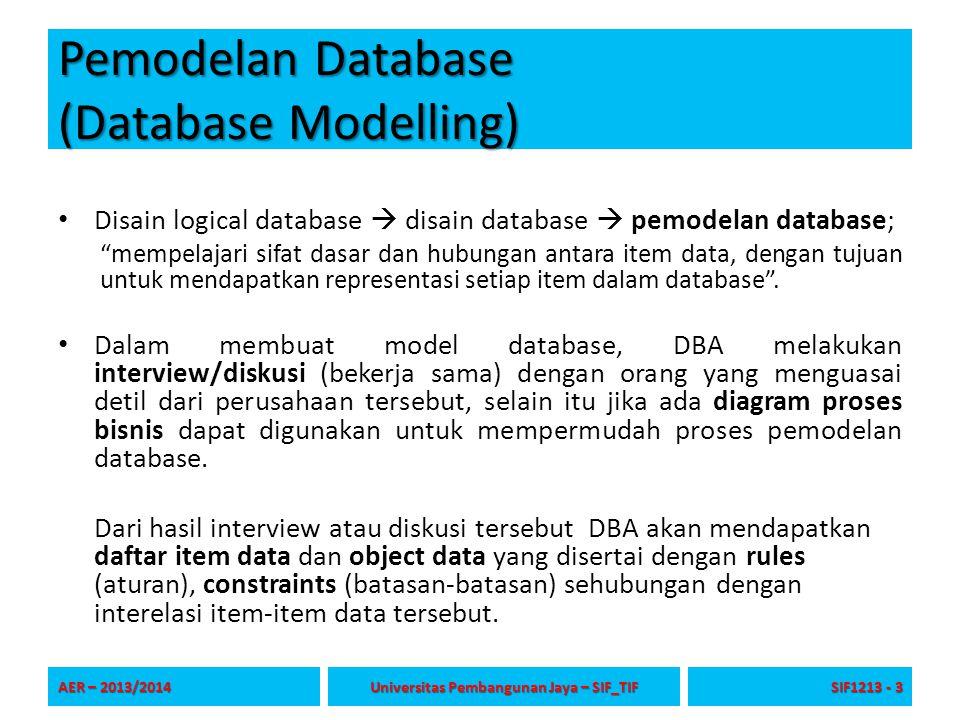 Pemodelan Database (Database Modelling)