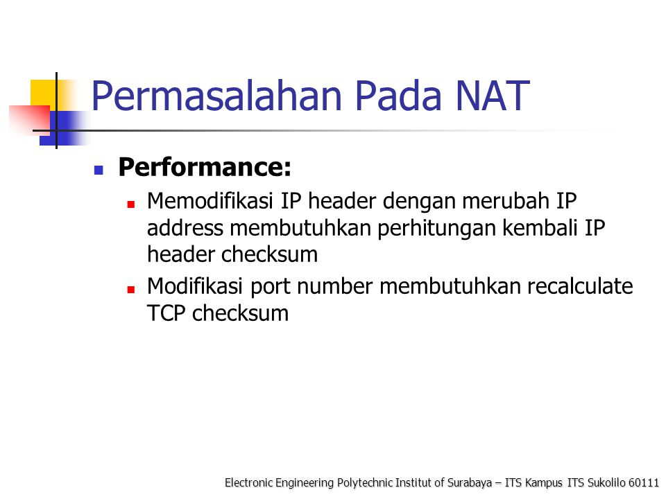 Permasalahan Pada NAT Performance: