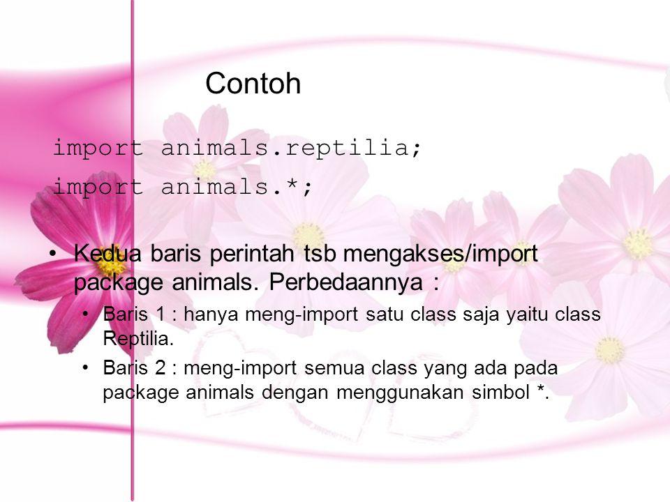 Contoh import animals.reptilia; import animals.*;