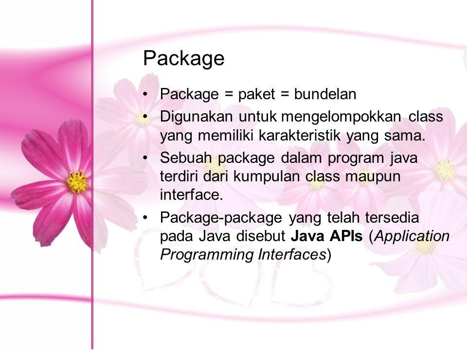 Package Package = paket = bundelan