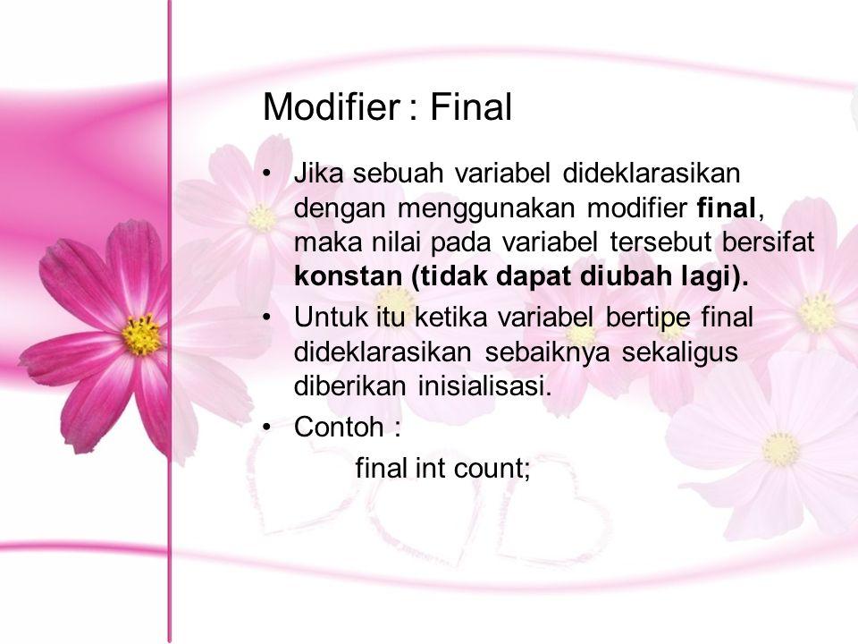 Modifier : Final