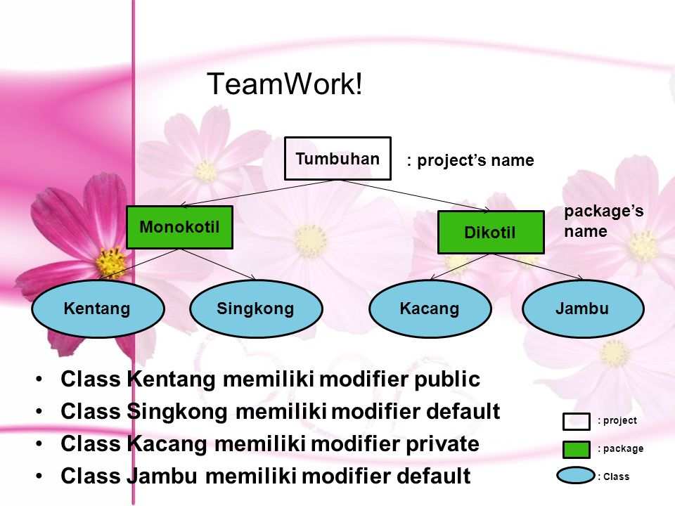 TeamWork! Class Kentang memiliki modifier public
