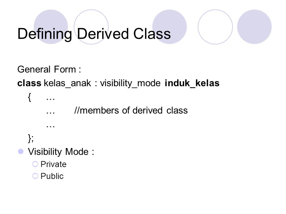 Defining Derived Class