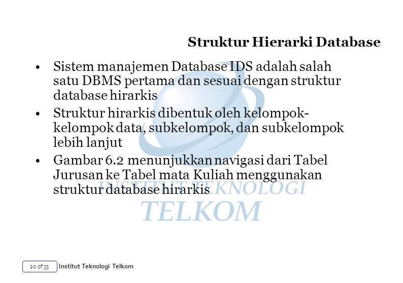 Struktur Hierarki Database