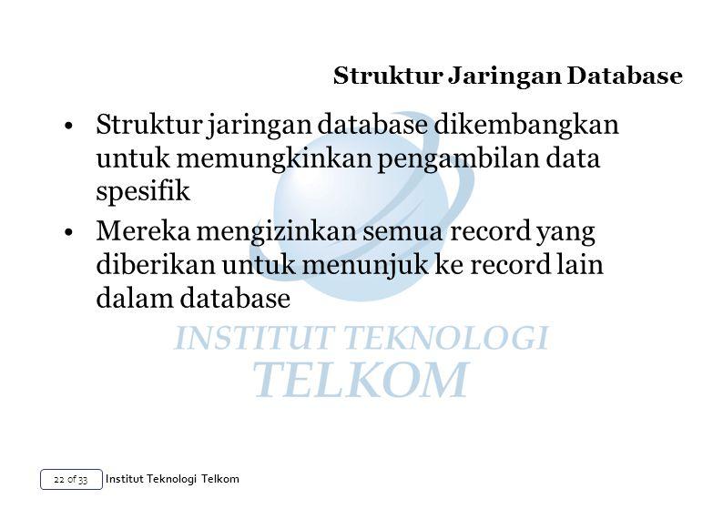 Struktur Jaringan Database