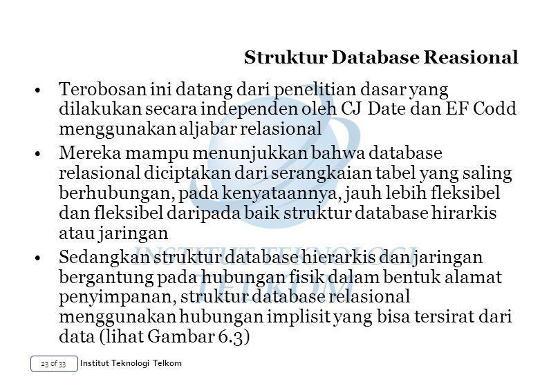 Struktur Database Reasional
