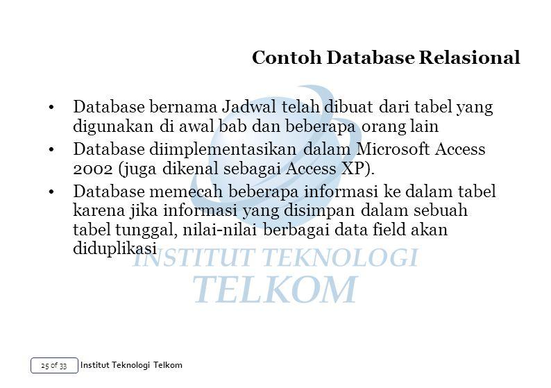 Contoh Database Relasional