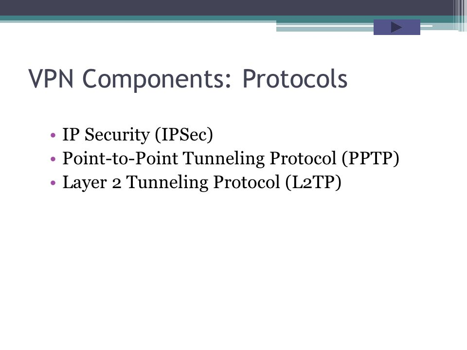 VPN Components: Protocols