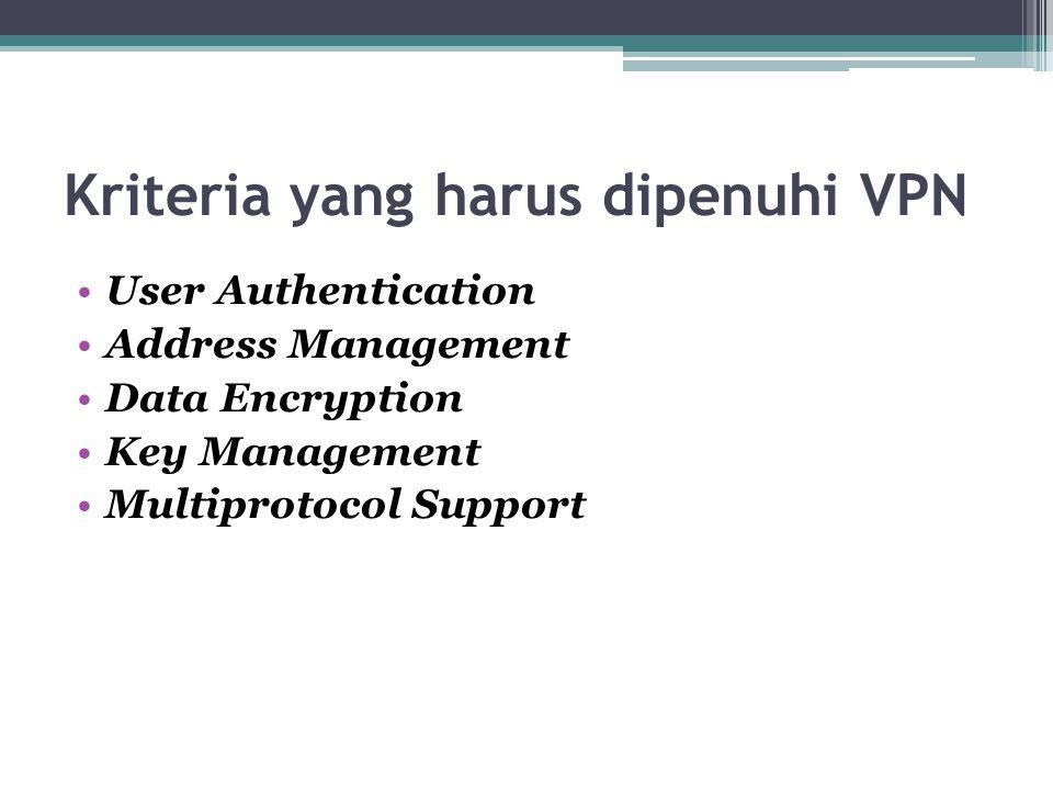 Kriteria yang harus dipenuhi VPN