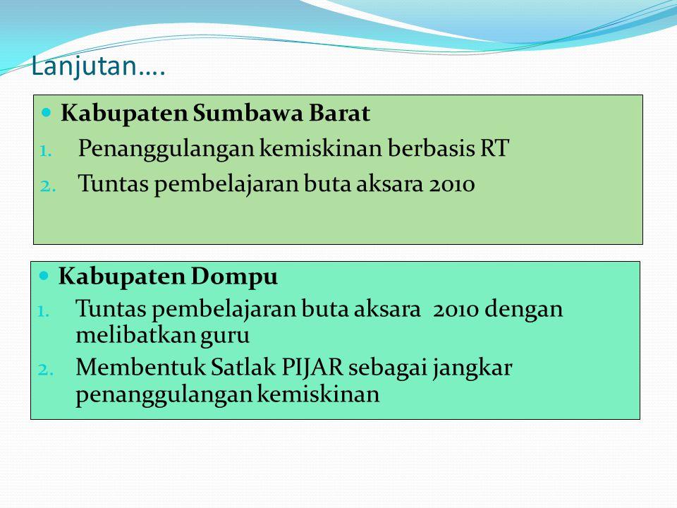 Lanjutan…. Kabupaten Sumbawa Barat