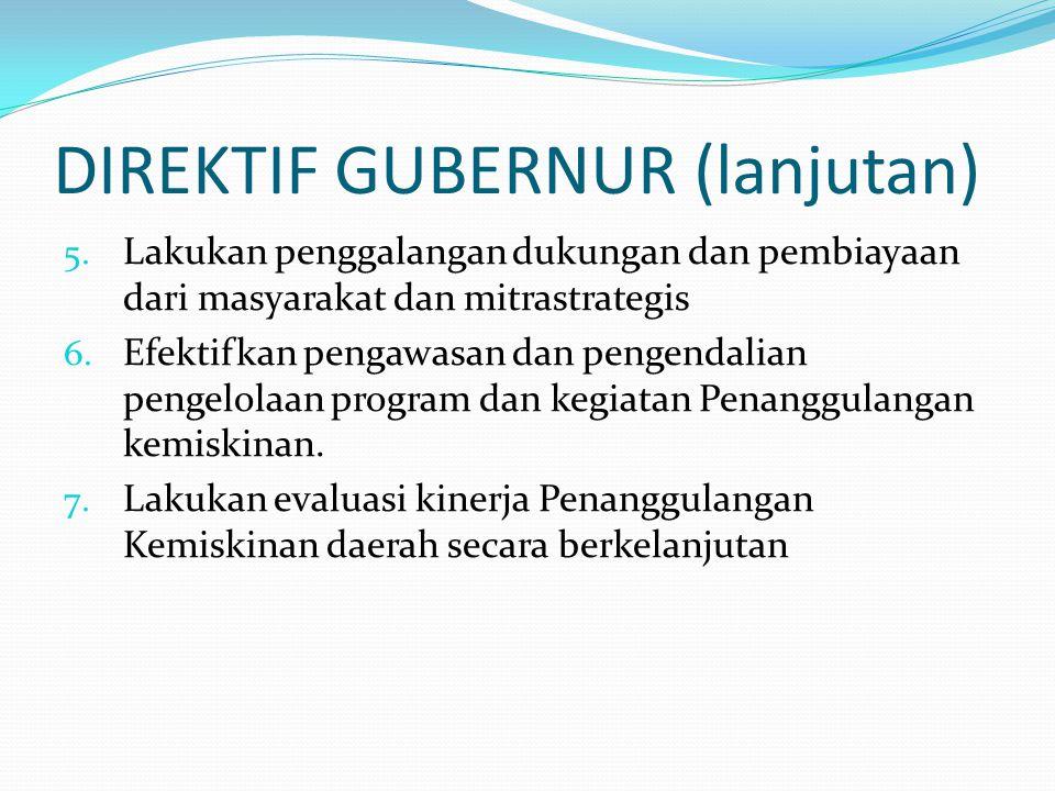 DIREKTIF GUBERNUR (lanjutan)