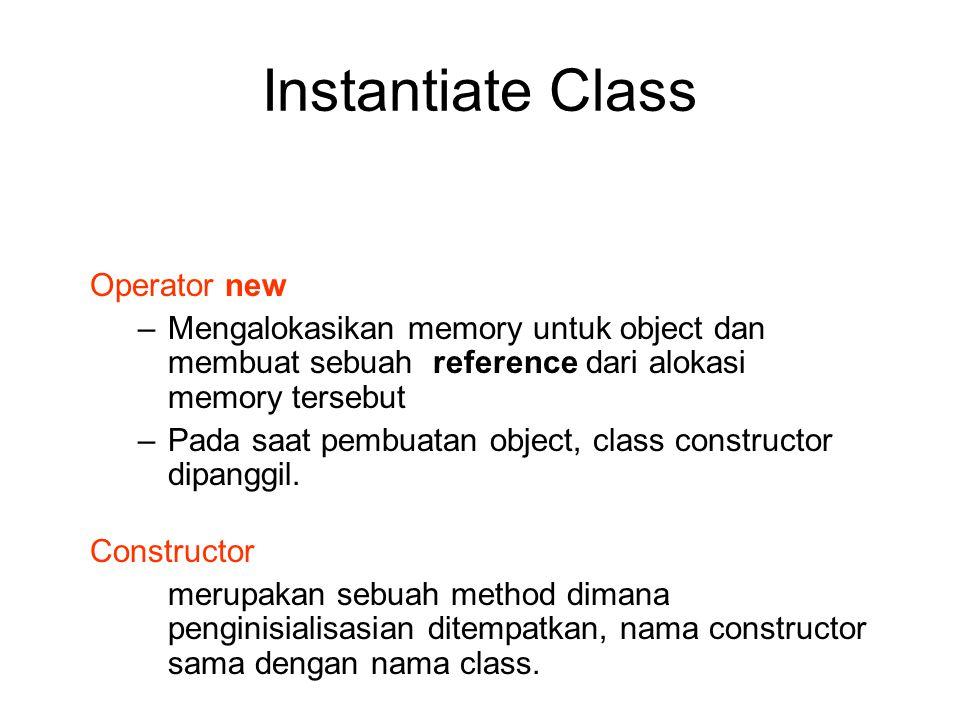 Instantiate Class Operator new