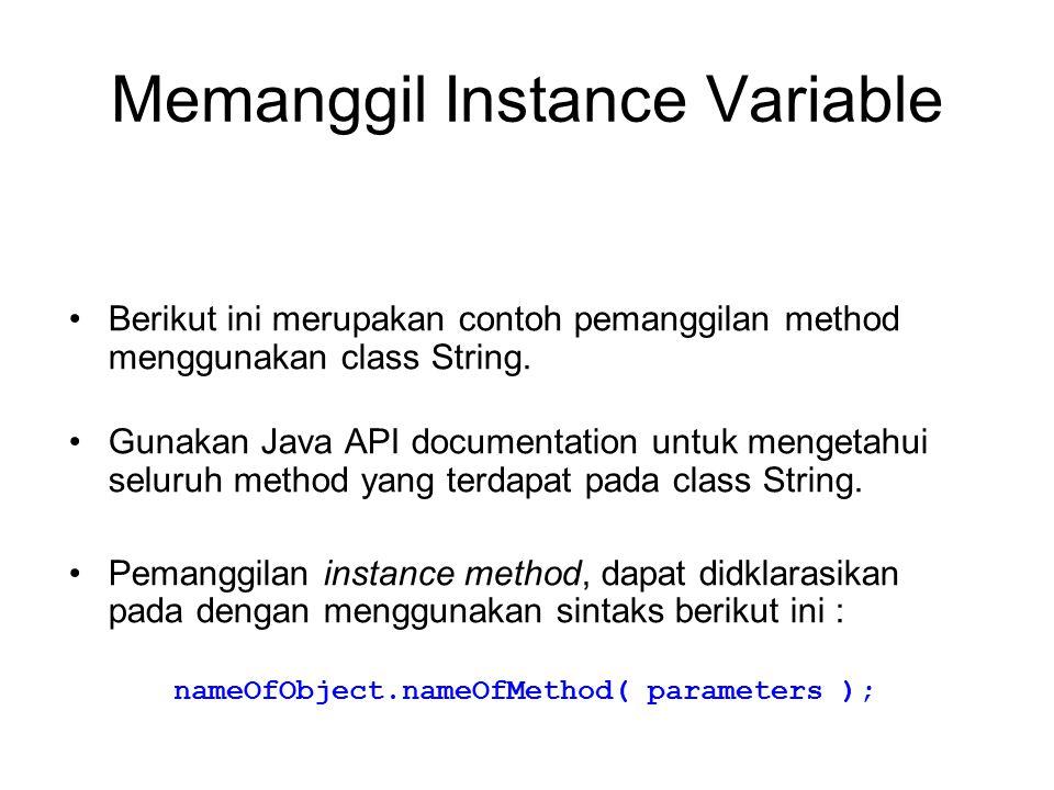 Memanggil Instance Variable