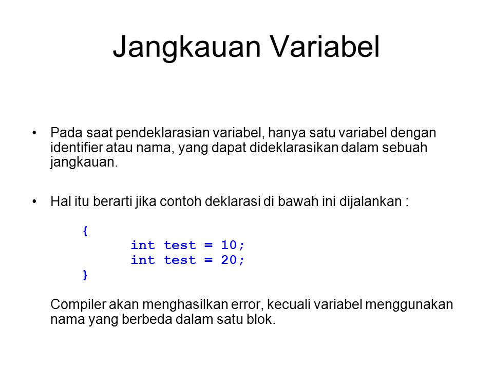 Jangkauan Variabel