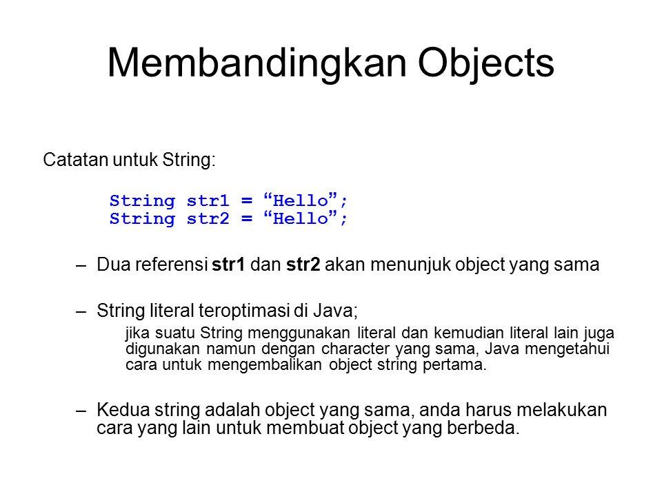 Membandingkan Objects