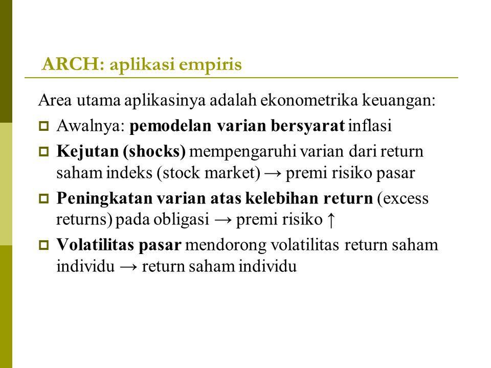 ARCH: aplikasi empiris