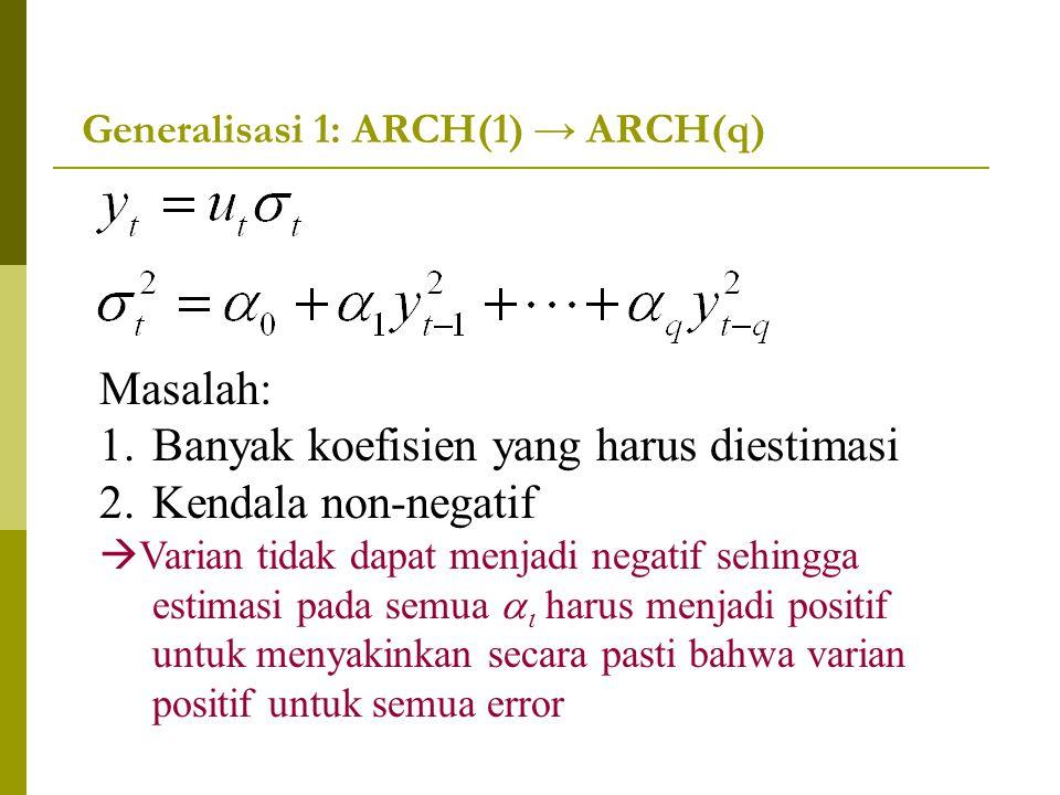 Generalisasi 1: ARCH(1) → ARCH(q)
