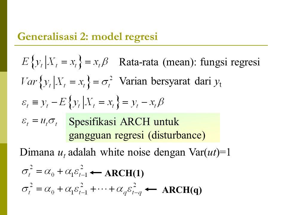 Generalisasi 2: model regresi