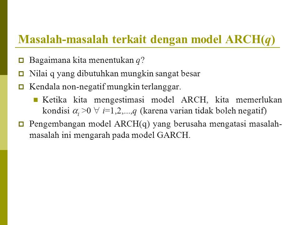 Masalah-masalah terkait dengan model ARCH(q)