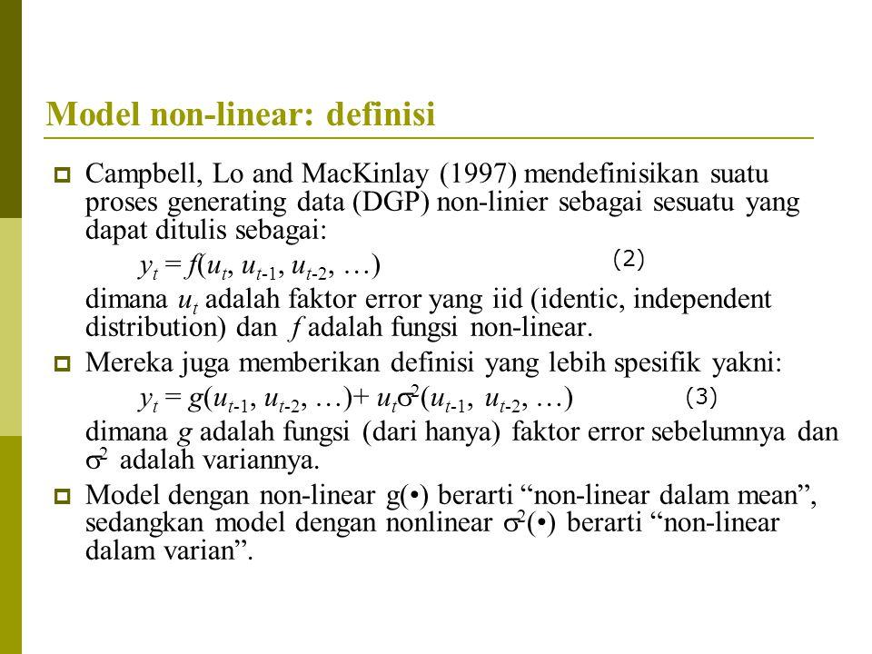 Model non-linear: definisi