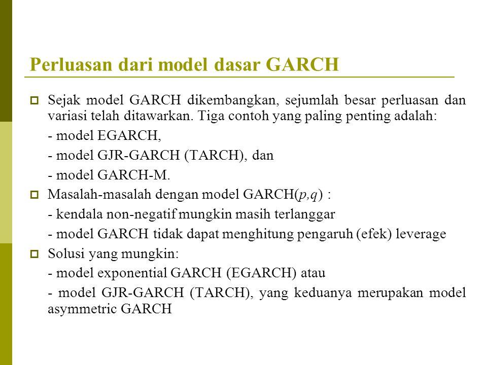 Perluasan dari model dasar GARCH