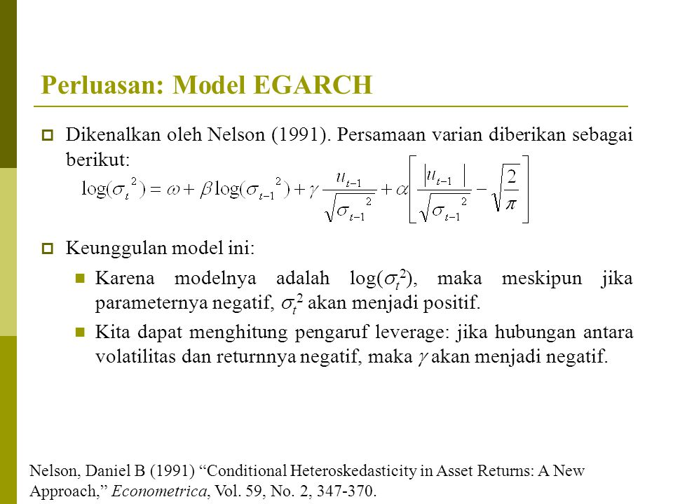 Perluasan: Model EGARCH