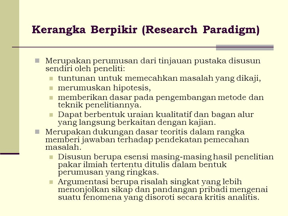 Kerangka Berpikir (Research Paradigm)