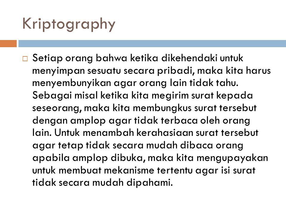 Kriptography