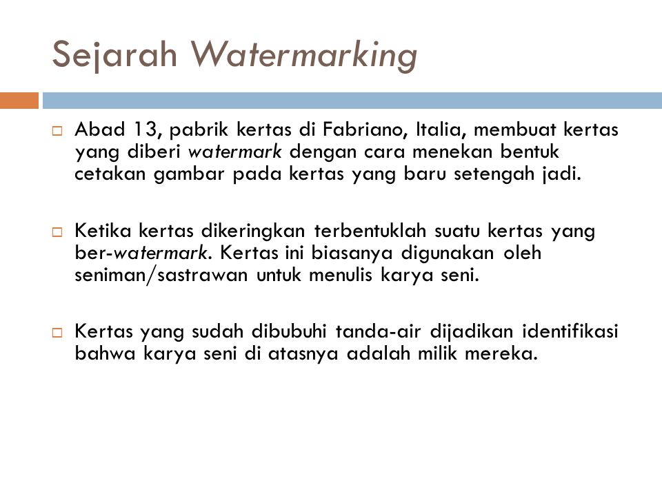 Sejarah Watermarking