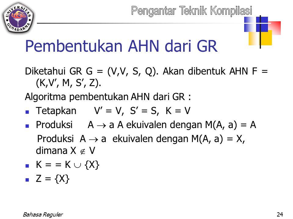 Pembentukan AHN dari GR