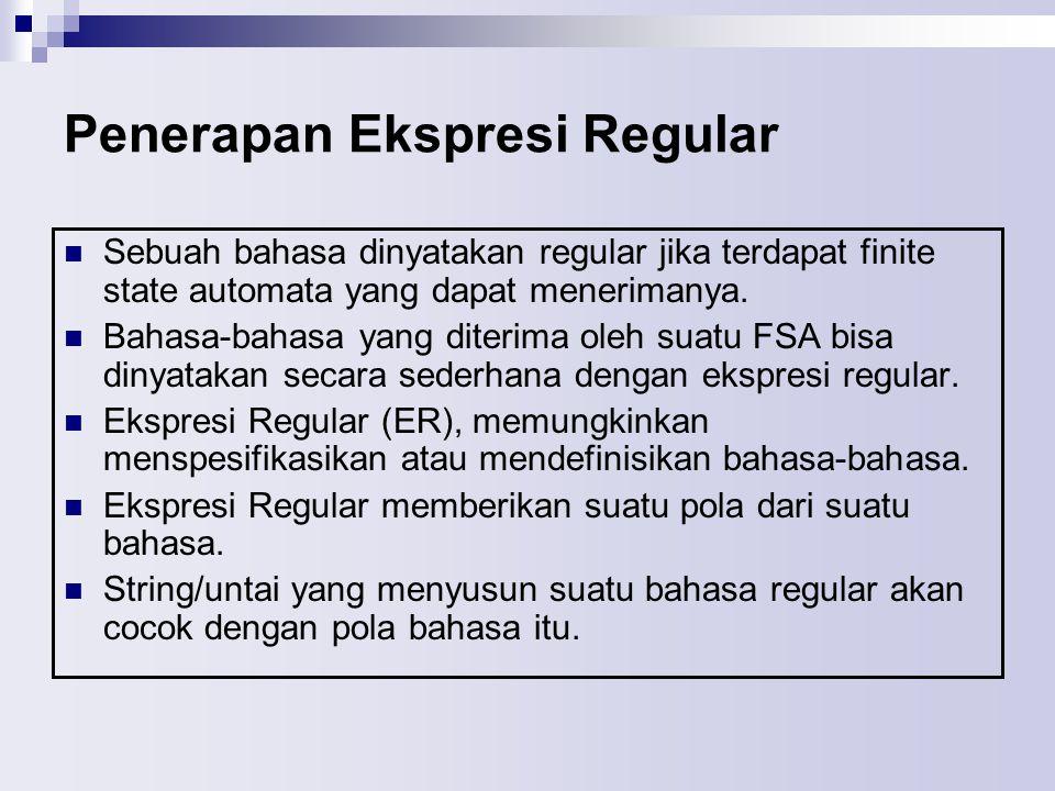 Penerapan Ekspresi Regular