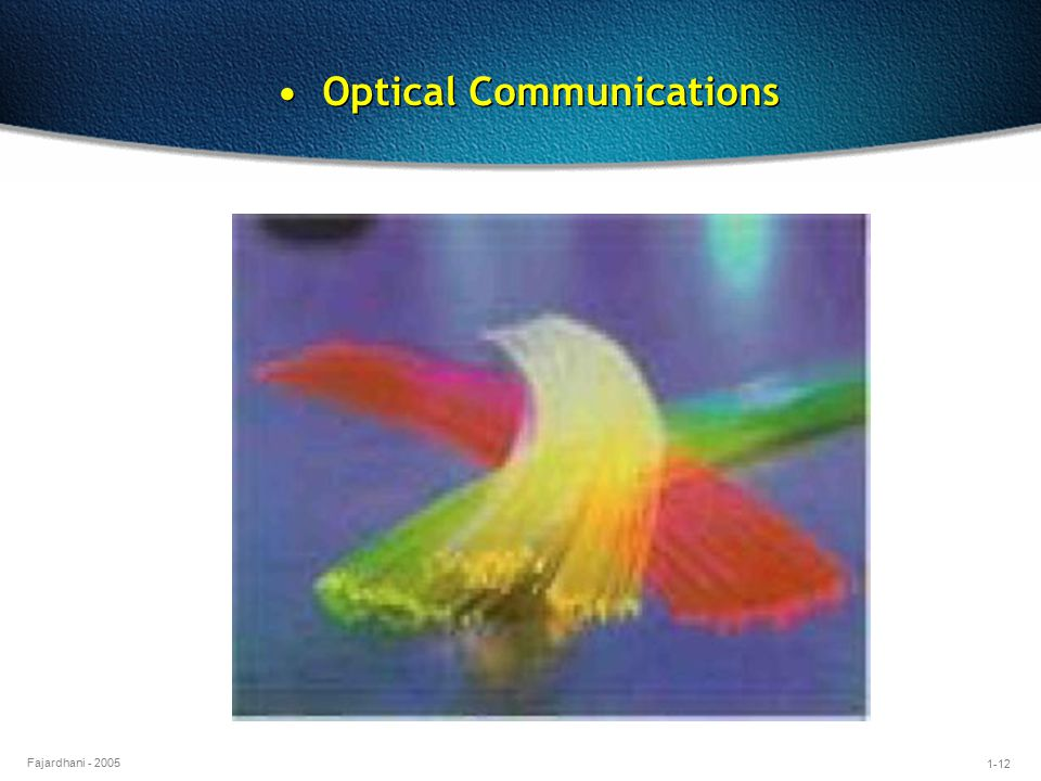 • Optical Communications