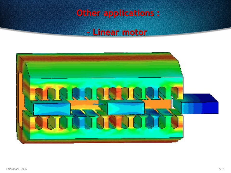 Other applications : – Linear motor