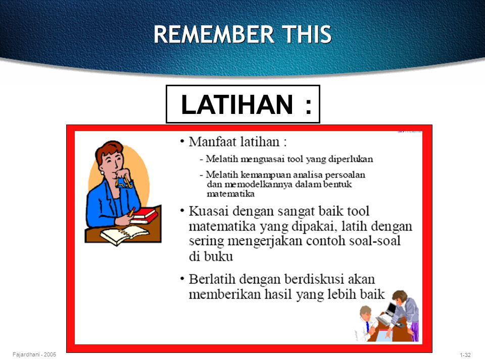 REMEMBER THIS LATIHAN :