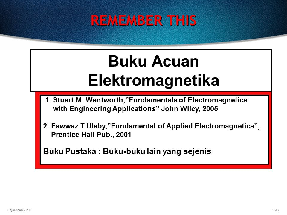 Buku Acuan Elektromagnetika