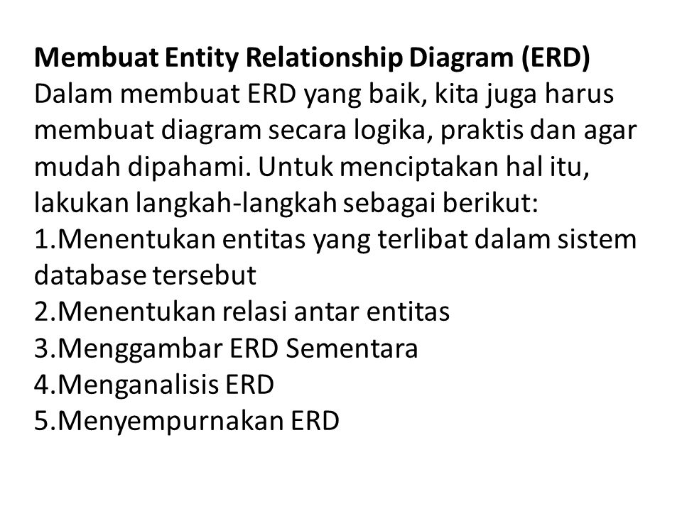 Membuat Entity Relationship Diagram (ERD)